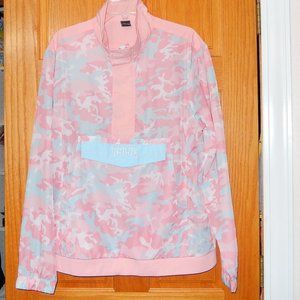 Kylie Large Pink Candy Camo Pullover Jacket New!